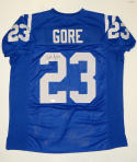 Frank Gore Signed / Autographed Blue Pro Style Jersey- JSA Authenticated