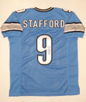 Matthew Stafford Autographed Light Blue Pro Style Jersey- JSA Witnessed Auth