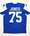 Deacon Jones HOF Signed / Autographed Blue Pro Style Jersey- JSA W Authenticated