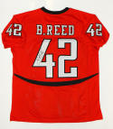 Brooks Reed Autographed College Style Red Jersey- JSA W Authenticated