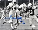 Leroy Kelly Signed 8x10 Cleveland Browns B&W Running With Ball Photo- JSA W Auth