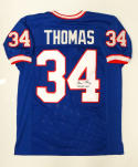 Thurman Thomas NFL MVP Signed / Autographed Blue Pro Style Jersey- JSA Auth