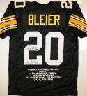 Rocky Bleier Signed / Autographed Black Stat Jersey- JSA Authenticated