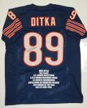 Mike Ditka Signed / Autographed Blue Pro Style Stat Jersey- JSA W Authenticated