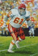 Curley Culp Autographed Kansas City Cheifs Goal Line Art Card- JSA W Auth