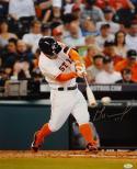 Jose Altuve Autographed Houston Astros 16x20 Batting Photo- JSA W Authenticated