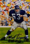 Mick Tingelhoff HOF Autographed Minnesota Vikings Goal Line Art Card- JSA Auth