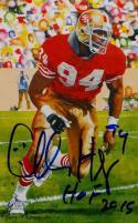 Charles Haley HOF Autographed San Francisco 49ers Goal Line Art Card- JSA Auth