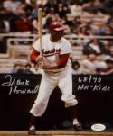 Frank Howard Autographed 8x10 Washington Senators Batting Photo with JSA W Auth