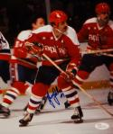 Yvon Labre Autographed 8x10 Washington Capitals In Play Photo with JSA W Auth