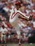 Steve Carlton HOF Autographed 16x20 Pitching Photo- JSA W Authenticated