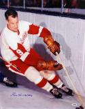 Gordie Howe Autographed 16x20 Vertical On Ice Photo- PSA/DNA Authenticated