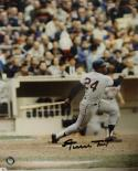 Willie Mays Autographed 8x10 Swinging Photo- Say Hey Hologram