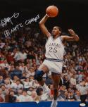 Danny Manning Autographed 16x20 Vertical In Air Photo- JSA W Authenticated
