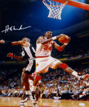 Hakeem Olajuwon Signed Rockets 16x20 Rebound Against Robinson Photo- JSA Auth