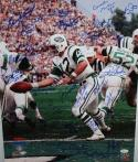 1969 New York Jets Autographed 16x20 Namath Hand Off Photo- JSA W Authenticated