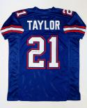 Fred Taylor Signed / Autographed Blue College Style Jersey with JSA W Auth