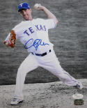Cliff Lee Autographed 8x10 B/W & Color Pitching Photo- JSA Authenticated