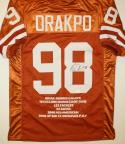 Brian Orakpo Autographed Orange Stat Jersey- JSA Authenticated