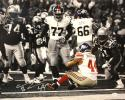 Ahmad Bradshaw Autographed 16x20 End Zone Sit B&W Photo- JSA W Authenticated