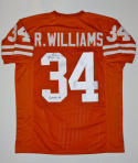 Ricky Williams Heisman Autographed Orange College Style Jersey- JSA Auth