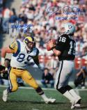 Plunkett / Youngblood Autographed 16x20 On Field Photo- JSA W Authenticated