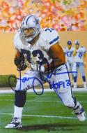 Larry Allen HOF Autographed Dallas Cowboys Goal Line Art Card- JSA Auth