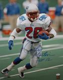 Curtis Martin Autographed 16x20 Vertical Running Photo- JSA Authenticated