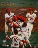 1982 World Series St Louis Cardinals Autographed 16x20 Photo- JSA Authenticated