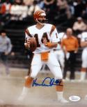 Ken Anderson Autographed 8x10 Vertical About To Pass Photo- JSA W Authenticated