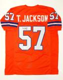 Tom Jackson Autographed Pro Style Orange Jersey with JSA Witnessed Auth
