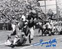 Leroy Kelly HOF Signed 8x10 Cleveland Browns B&W Against Saints Photo- JSA W