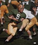 Paul Hornung Autographed 16x20 Notre Dame On Field Photo- JSA Authenticated