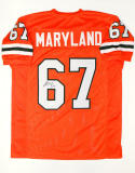 Russell Maryland Signed / Autographed Orange College Style Jersey- JSA W Auth