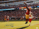 Anquan Boldin Autographed San Francisco 49ers 16x20 Leaping Catch Photo-JSA Auth