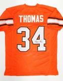 Thurman Thomas Autographed Orange Jersey- JSA W Authenticated