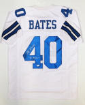 Bill Bates SB Champs Signed / Autographed White Pro Style Jersey- JSA Auth