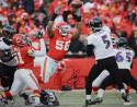 Derrick Johnson Autographed 16x20 Blocking Flacco Photo- JSA W Authenticated