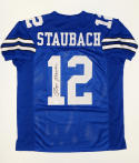 Roger Staubach Signed / Autographed Blue Pro Style Jersey- JSA W Auth