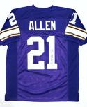 Terry Allen Signed / Autographed Purple Jersey- JSA W Authenticated