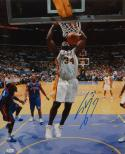 Shaquille O'Neal Autographed 16x20 Lakers Dunk Against Detroit Photo- JSA Auth