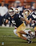 Manti Te'o Autographed 16x20 Vertical Running Photo- JSA Authenticated