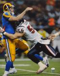 Brian Cushing Autographed 16x20 Tackling Rams QB Photo- JSA Authenticated