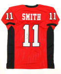 Alex Smith Autographed Red W/ Black College Style Jersey- JSA W Authenticated