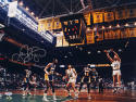 Larry Bird Autographed Celtics16x20 Shooting Against Lakers Photo- PSA/DNA Auth