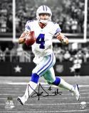 Dak Prescott Signed Dallas Cowboys 16x20 Looking to Pass Photo- JSA W Auth/ Holo