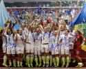 US Women's Soccer Team Autographed 16x20 World Cup Celebration Photo- JSA W Auth