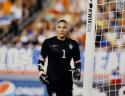 Hope Solo Autographed 16x20 Team USA Near Goal In Black Photo- JSA Authenticated