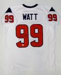 JJ Watt Autographed White Pro Style Jersey- JSA W Authenticated