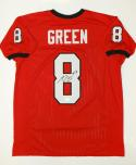 A.J. Green Autographed Red College Style Jersey- JSA W Authenticated